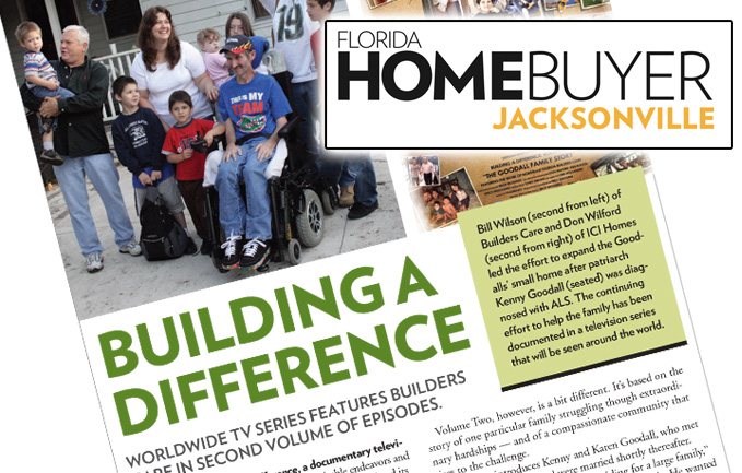 The Florida HomeBuyer Features Goodall Family Story