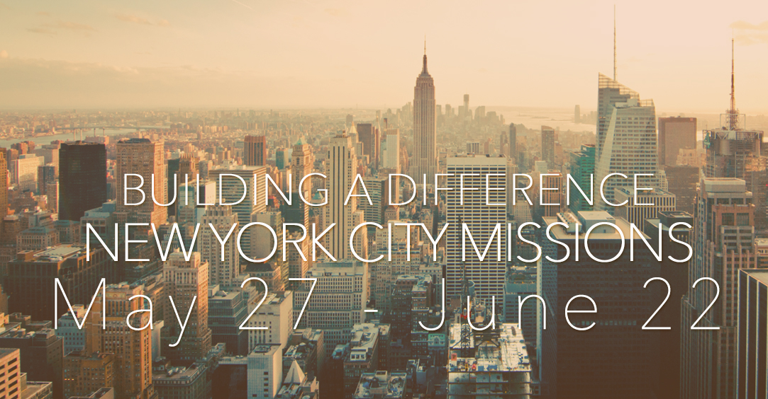 Building a Difference with New York City Missions